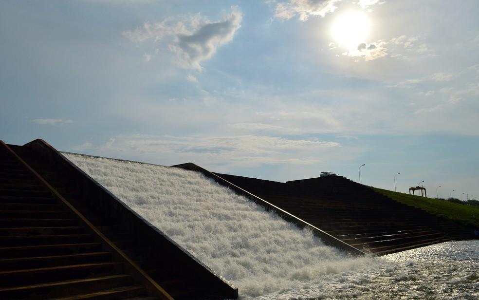 Barragem do Guariroba foi enquadrada na Categoria de Risco médio e com Dano Potencial Associado alto — Foto: Anderson Viegas/G1 MS