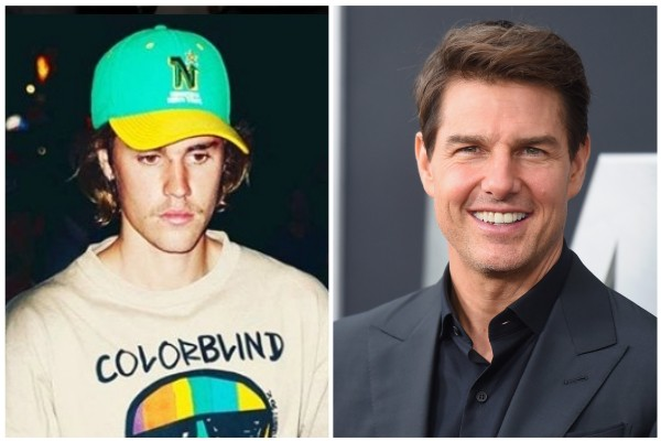 Justin Bieber e Tom Cruise (Foto: Instagram / Getty Images)
