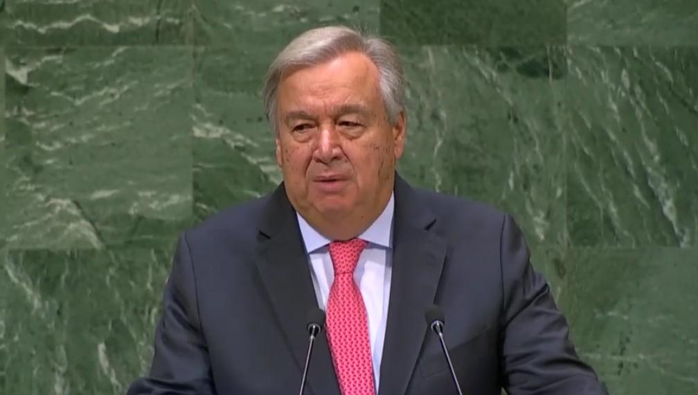 António Guterres — Foto: Reprodução/ONU