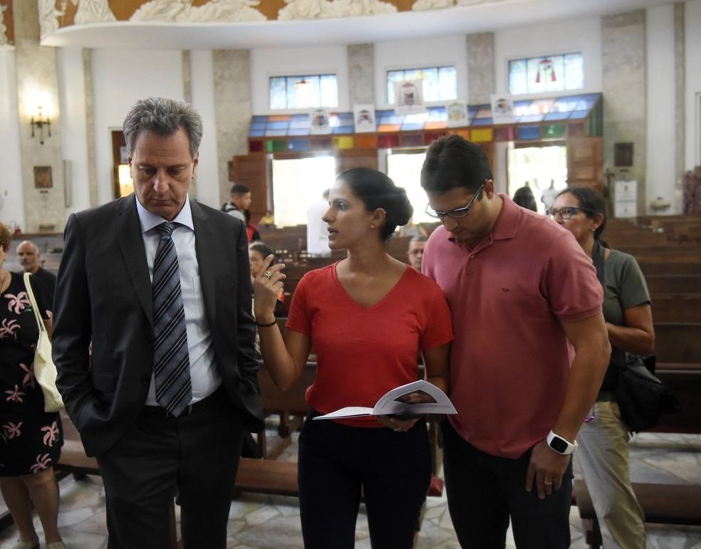 Presidente Rodolfo Landim esteve presente — Foto: André Durão