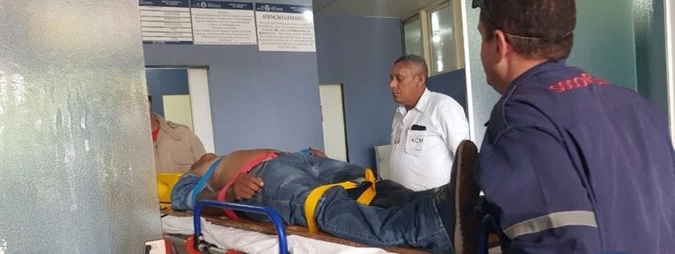 Homem foi internado após ser agredido na cabeça com golpes de barra de ferro em Sorriso — Foto: Portal Sorriso