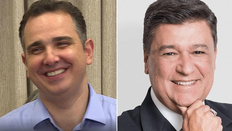 Rodrigo Pacheco (DEM) e Carlos Viana (PHS) so eleitos senadores por Minas — Foto: Reprodução/TV Globo e Divulgação/Site Oficial