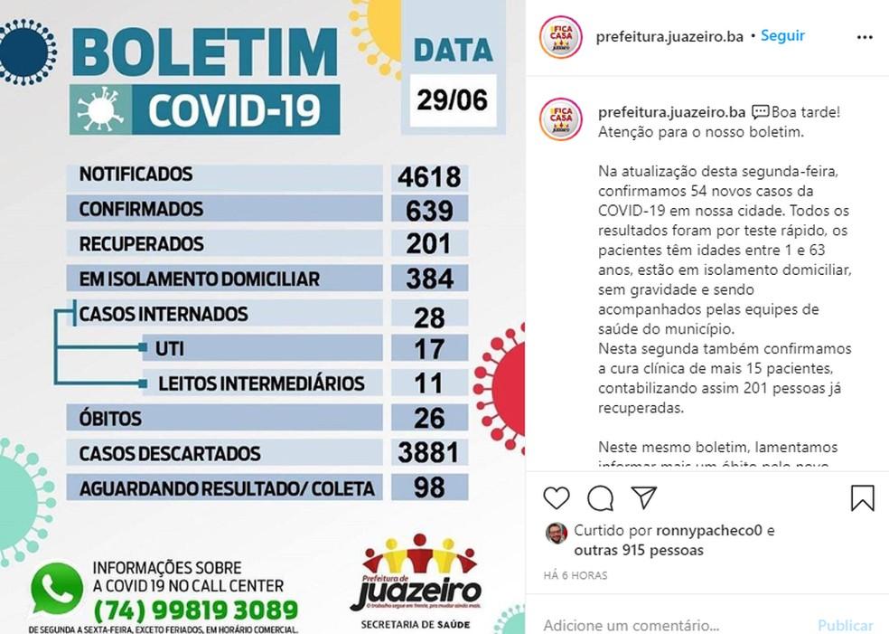 Prefeitura de Juazeiro prorroga fechamento de comércio e toque de recolher até 12 de julho — Foto: Reprodução/Redes Sociais
