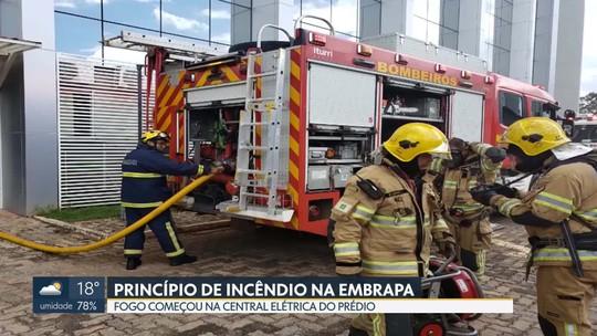 Princípio de incêndio assusta servidores da Embrapa