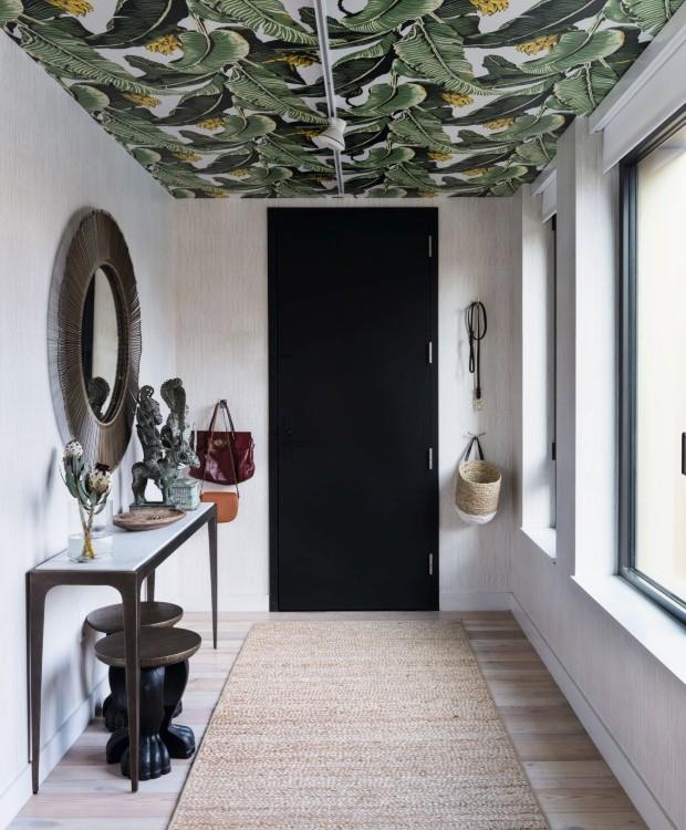 Papel de parede de folhagens (Foto: Claire Esparros / Homepolish)