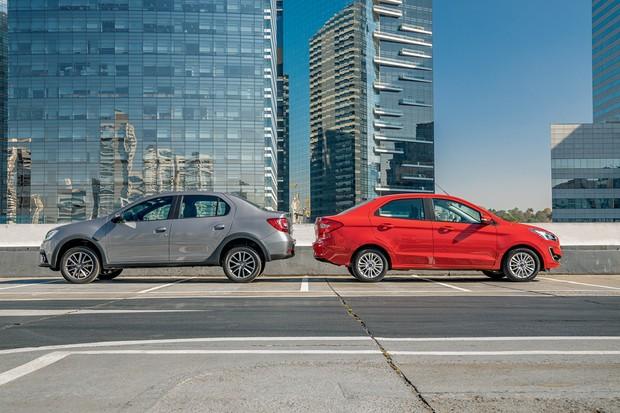 Renault Logan Iconic x Ford Ka Sedan Titanium (Foto:  Marcos Camargo/Autoesporte)