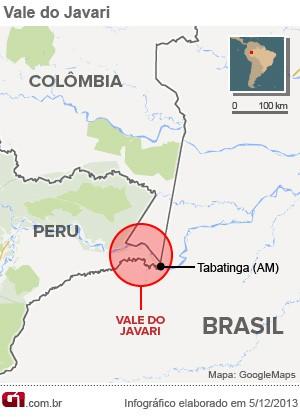 mapa vale javari (Foto: Editoria de Arte/G1)