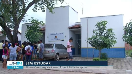 Falta de transporte deixa mais de 200 alunos sem ir à escola em Barra do Ouro