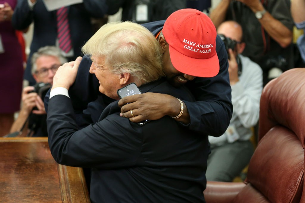 Kanye West e Donald Trump (Foto: Getty Images)