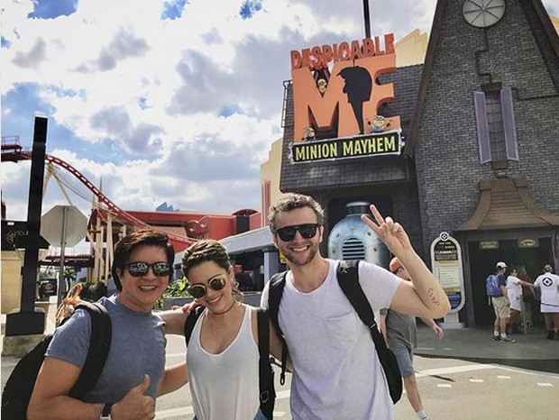 Xororó, Sandy e Lucas Lima (Foto: Reprodução Instagram)