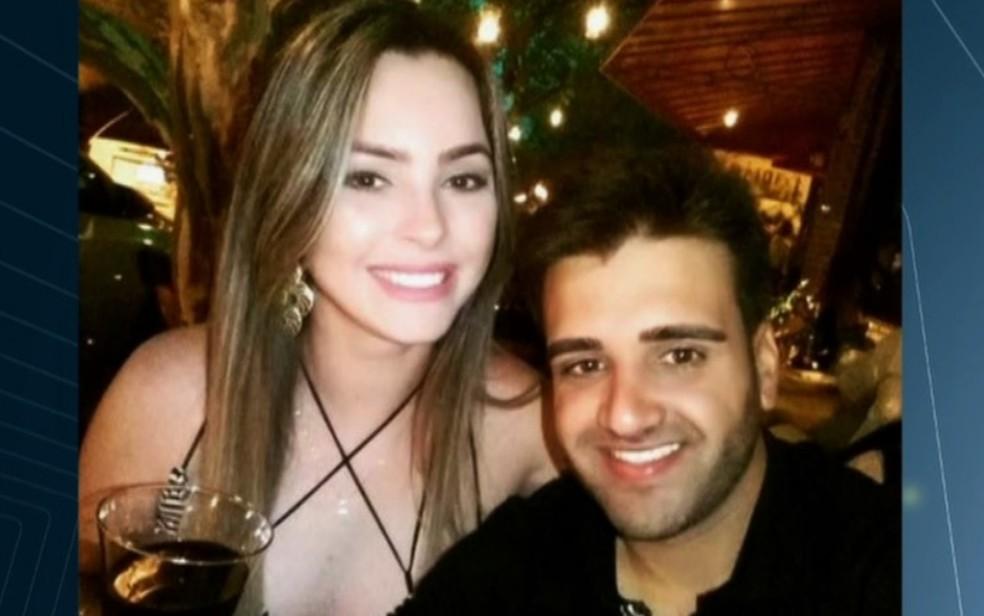 Camila Edna Silveira de Oliveira e Mário Silva de Moura foram mortos a tiros em Goiânia Goiás (Foto: Reprodução/TV Anhanguera)