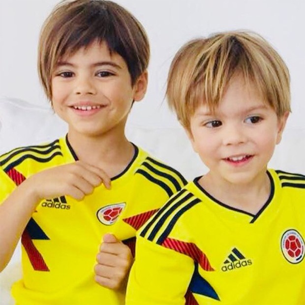 Milan e Sasha, filhos de Shakira (Foto: Reprodução/Instagram)