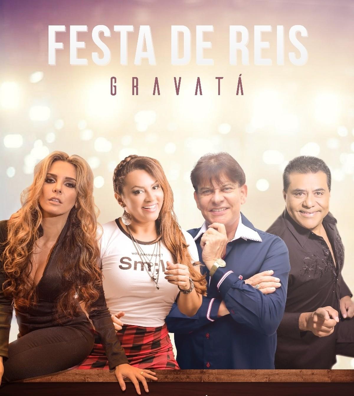 Márcia Fellipe e Adilson Ramos são umas das atrações da festa de Reis de Gravatá