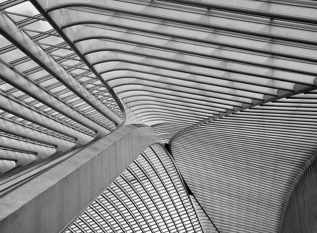 Suraj Garg, do Reino Unido, registrou a cobertura de uma estação de transporte Belga, trabalho de Santiago Calatrava (Foto: Architectural Photography Awards/Reprodução)