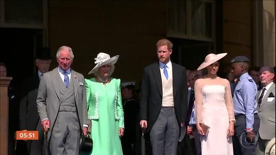 Meghan Markle e Harry participam do primeiro evento público após casamento real