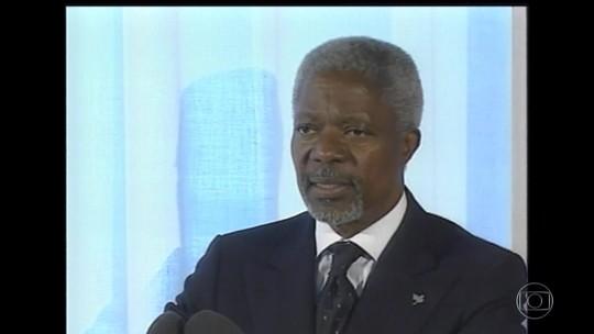 Morre aos 80 anos ex-secretário-geral da ONU Kofi Annan
