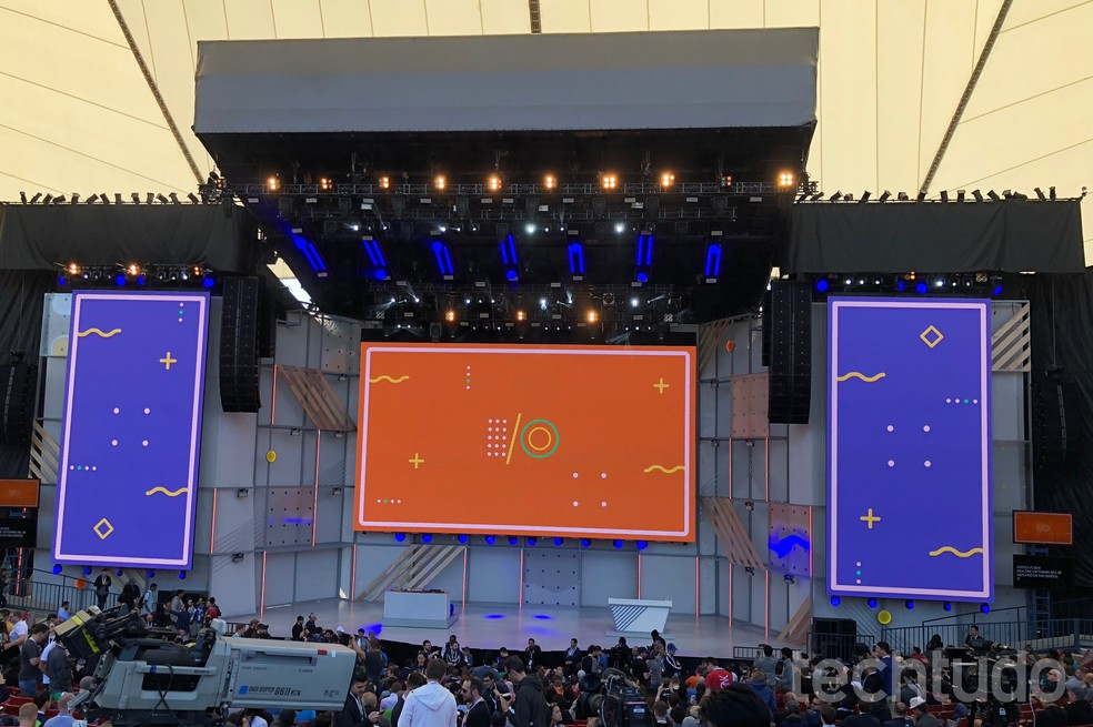 Google I/O 2018 acontece no Shoreline Amphitheater, em Mountain View, EUA (Foto: Nicolly Vimercate/TechTudo)