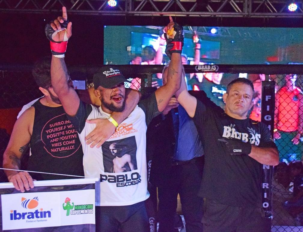Kleyton Alves venceu Anderson Melo por finalização (Foto: Josué Seixas/GloboEsporte.com)