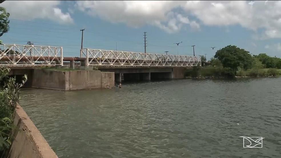 Rio Bacanga, em São Luís — Foto: Reprodução / TV Mirante
