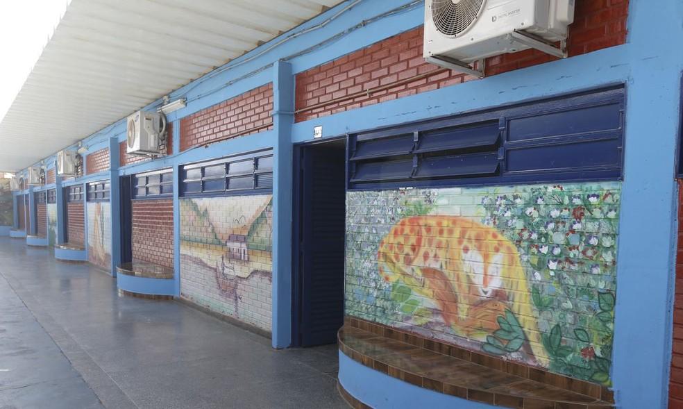 Centro Educacional (CED) 308, do Recanto das Emas, no Distrito Federal — Foto: Carolina Cruz/G1