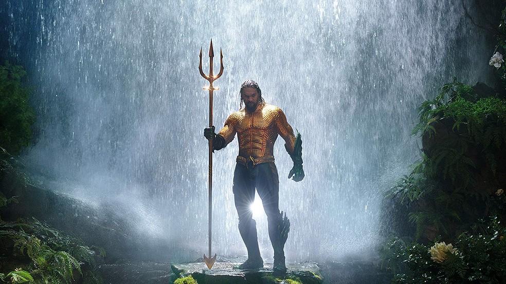 Jason Momoa em cena de 'Aquaman' — Foto: Divulgação