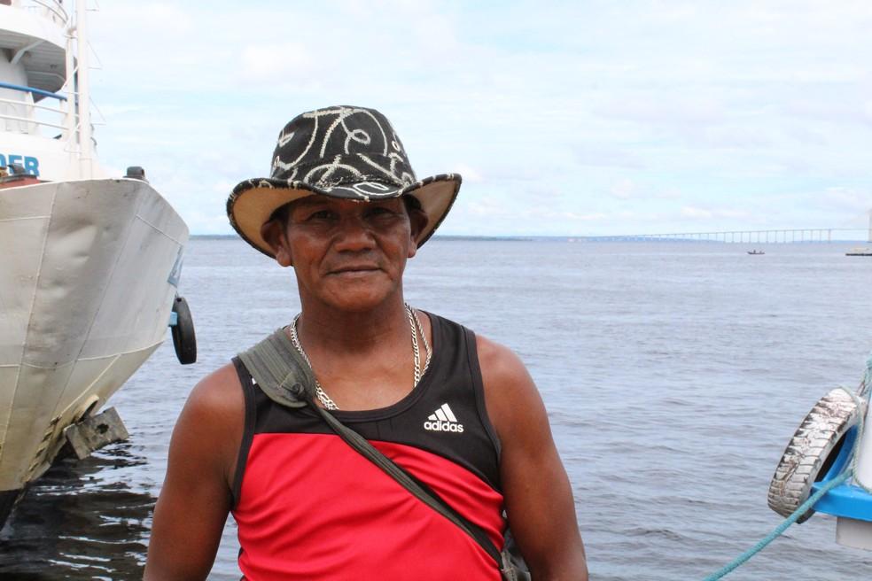 Robenaldo de Souza é um dos trabalhadores do Centro de Manaus (Foto: Leandro Tapajós/G1 AM)