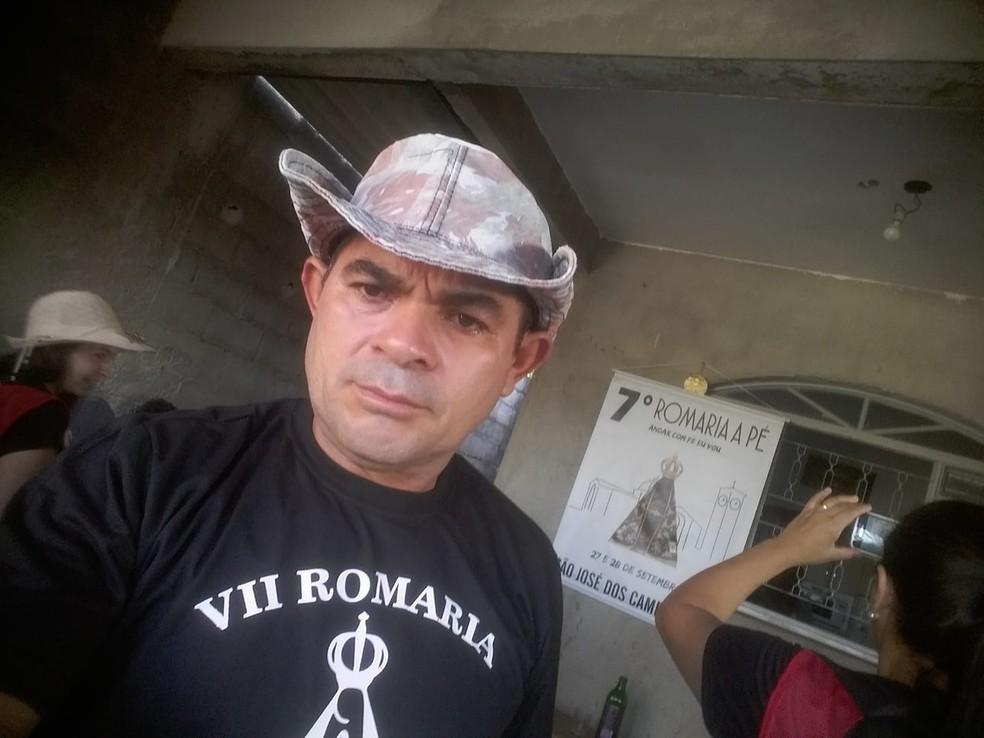 Romeiro que morreu atropelado por ônibus iria a Aparecida agradecer por cirurgia — Foto: Arquivo pessoal