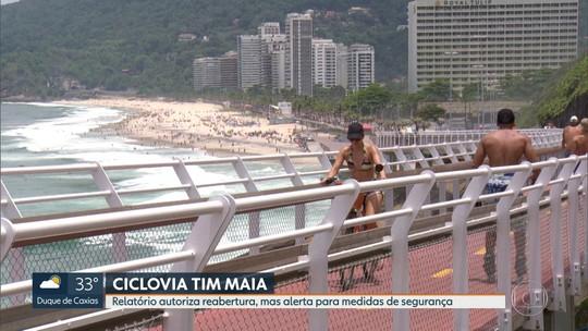 Relatório autoriza reabertura da Ciclovia Tim Maia