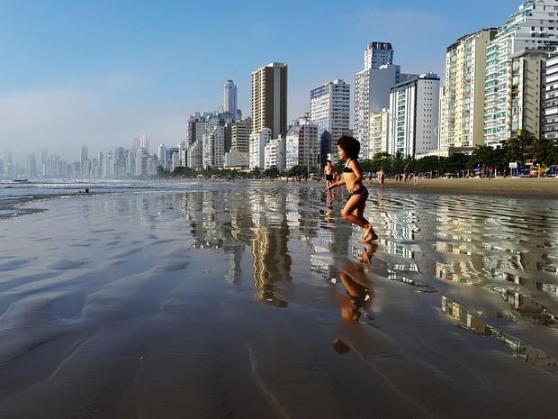 Praia Central, Balneário Camboriú (Foto: Luiz Souza/RBS TV)