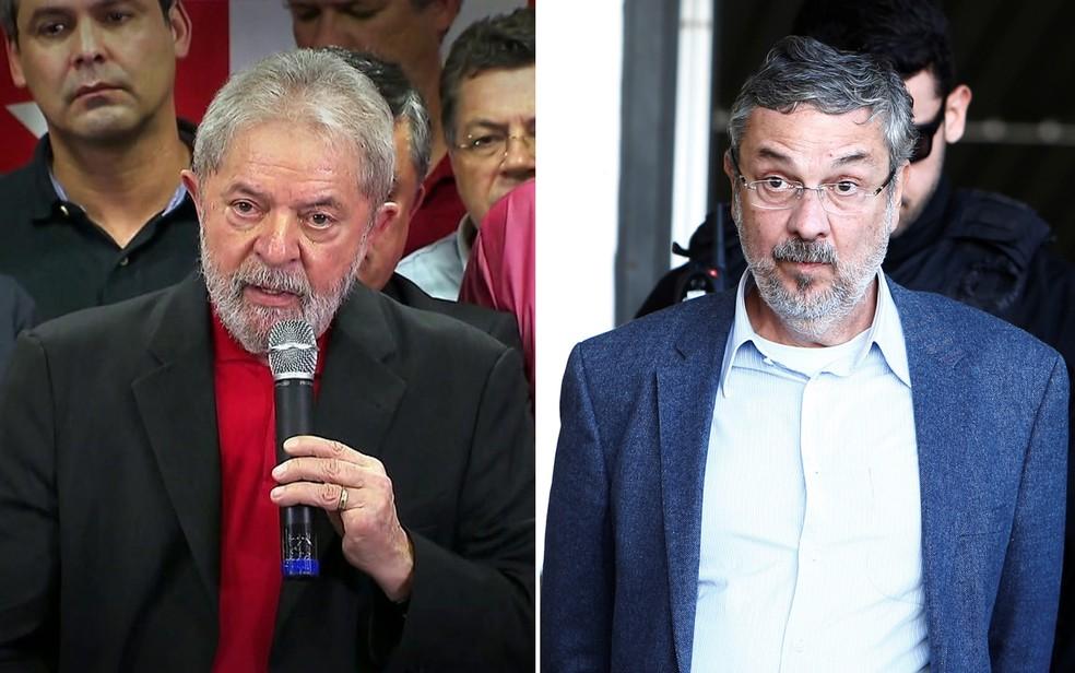 Palocci foi ministro de Lula — Foto: Montagem/G1