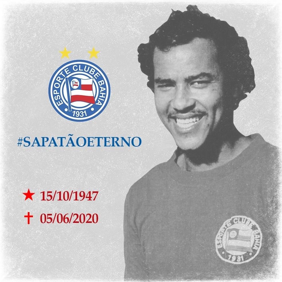 Ídolo do Bahia, Sapatão morreu nesta sexta-feira — Foto: Divulgação/E.C. Bahia