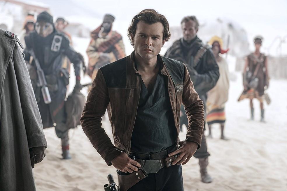 Ator Alden Ehrenreich no papel de Han Solo em 'Han Solo: Uma história Star Wars' — Foto: Divulgação