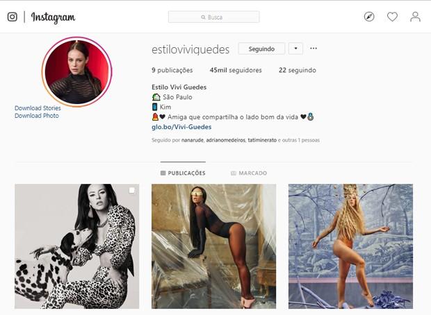 Perifl de Vivi Guedes, personagem de Paolla Oliveira em A Dona do Pedaço (Foto: Reprodução/Instagram)