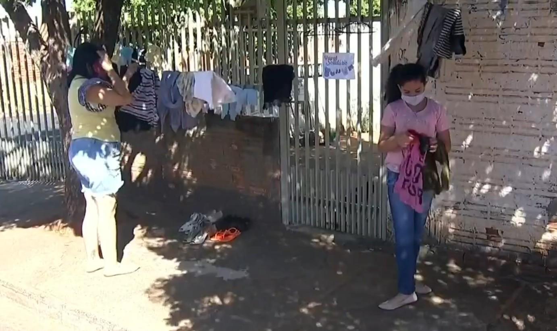 Menina cria varal solidário para ajudar famílias em Votuporanga