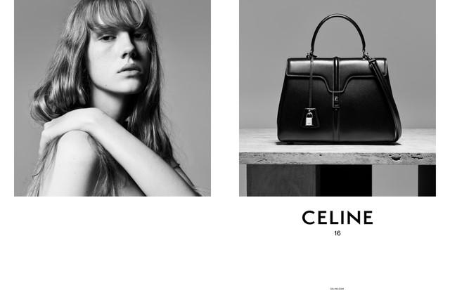 A nova campanha da Celine, com a bolsa 16 em destaque (Foto: Divulgação)