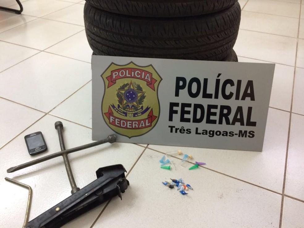 Material apreendido pela PF em Três Lagoas (Foto: PF/Divulgação)