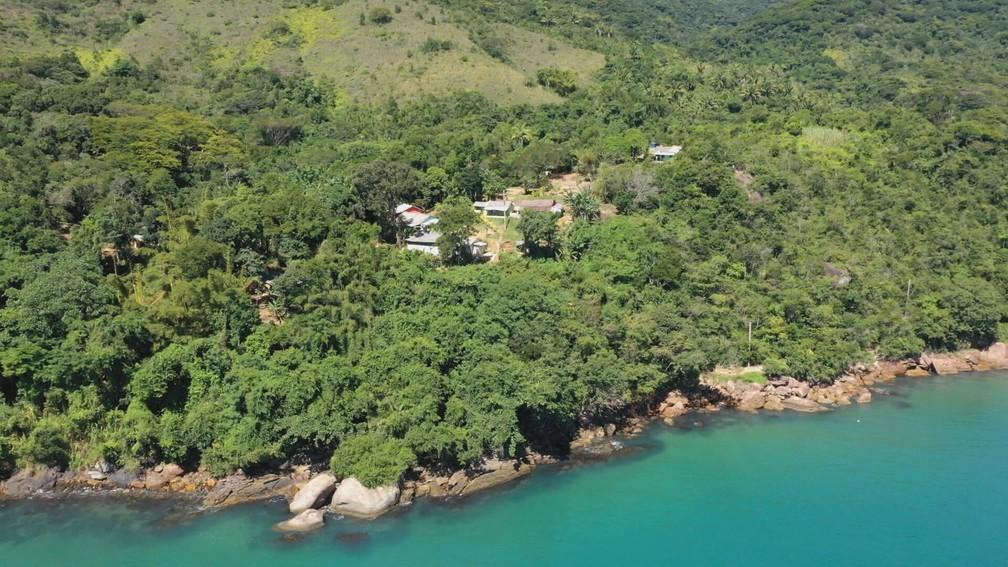 Praia Grande da Cajaíba, em Paraty — Foto: Globo Repórter/ Reprodução