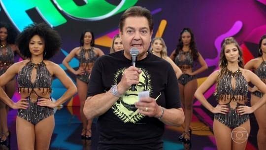Fausto Silva apresenta o 'Domingão do Faustão' (Foto: Reprodução)