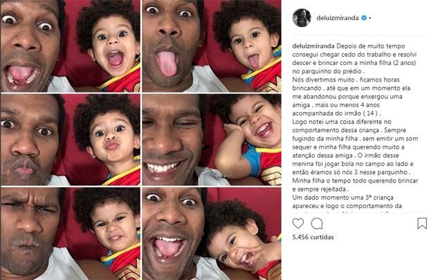 Post-desabafo de André Luiz Miranda (Foto: Reprodução / Instagram)