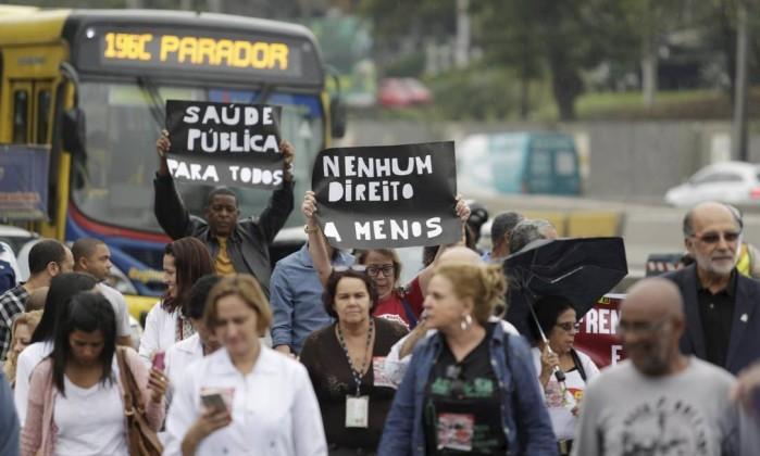 Em agosto de 2017, funcionários do HFB fizeram protesto contra o 'desmonte'