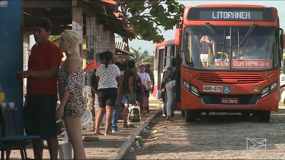 Ônibus ainda irão rodar por São Luís até segunda (28), de acordo com a SET, mesmo com a paralisação dos caminhoneiros (Foto: Reprodução/TV Mirante)