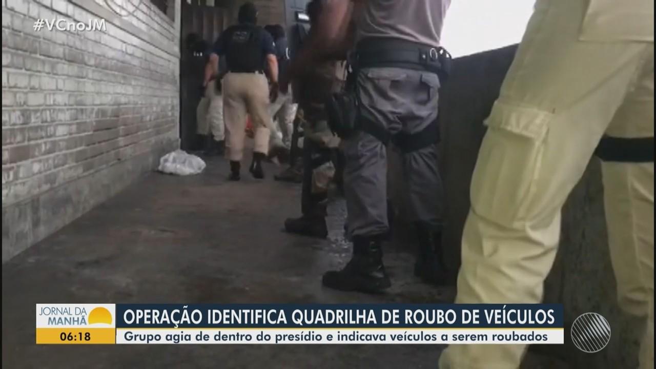 Operação identifica quadrilha responsável por 30% dos roubos de veículos em Salvador