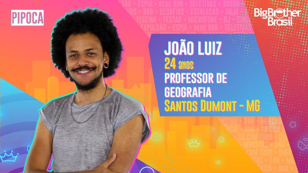 João Luiz é participante do 'BBB21' — Foto: Divulgação/Globo