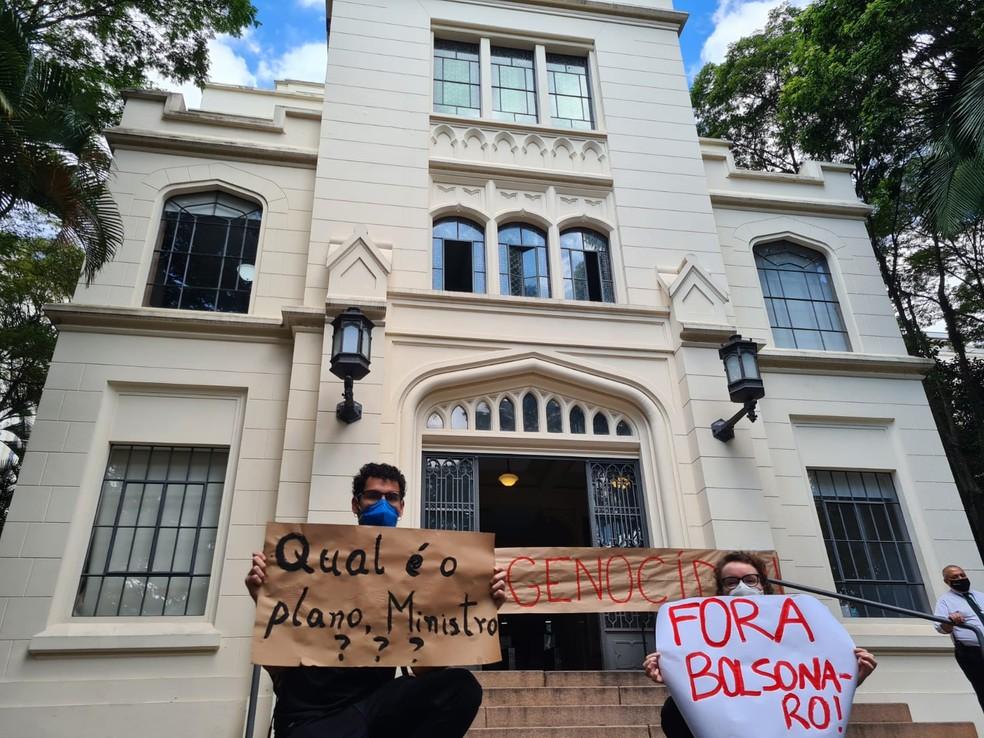 Protesto contra o governo federal na USP — Foto: Arquivo Pessoal