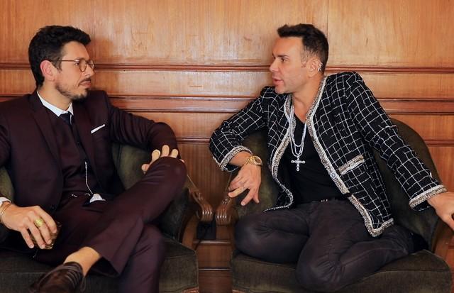 João Vicente de Castro e Matheus Mazzafera no Mister V (Foto: Reprodução)