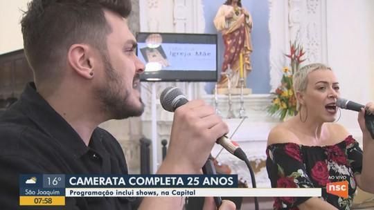 Camerata estreia temporada de concertos em comemoração aos 25 anos com música pop em Florianópolis