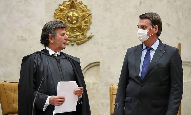 O presidente do STF, Luiz Fux, pode pedir a Bolsonaro operações do Exército para proteger as instalação do tribunal