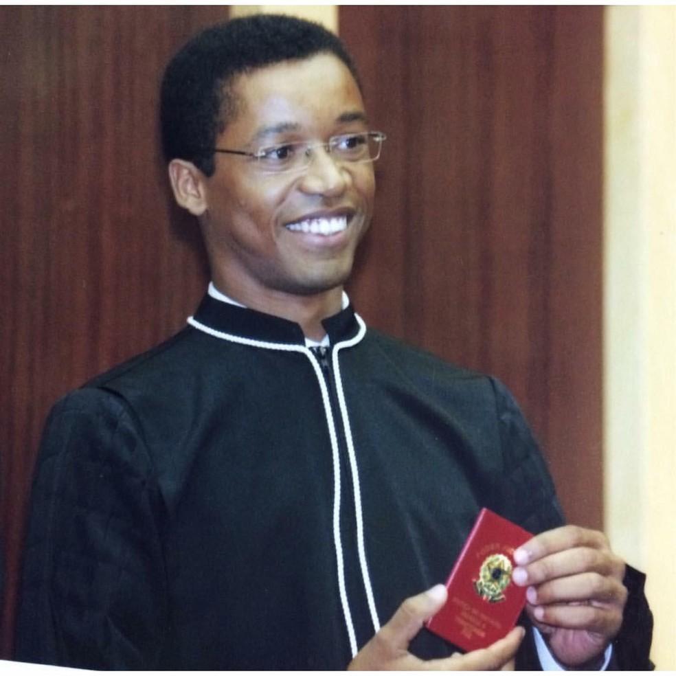 Fábio Francisco Esteves quando assumiu como juiz do DF, em 2007 — Foto: Arquivo pessoal
