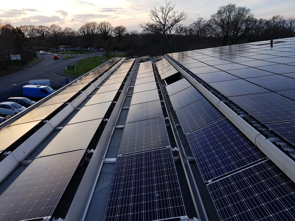 Painéis Solares — Foto: Pexels