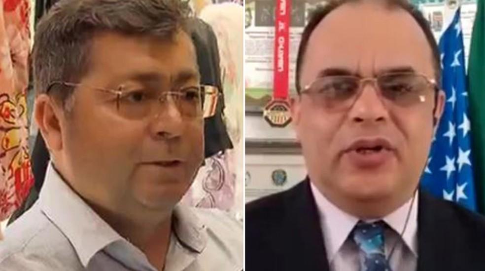 Ex-diretor da Saúde Lauricio Monteiro Cruz e reverendo Amilton Gomes de Paula — Foto: Reprodução